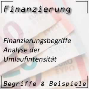 Finanzierung Umlaufintensität