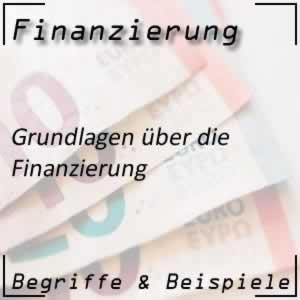 Finanzen und Grundlage der Finanzierung