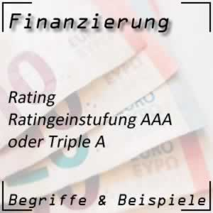 Rating AAA Triple A