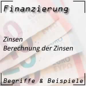 Finanzierung Zinsen berechnen