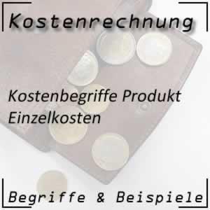 Kostenrechnung Produkt Einzelkosten