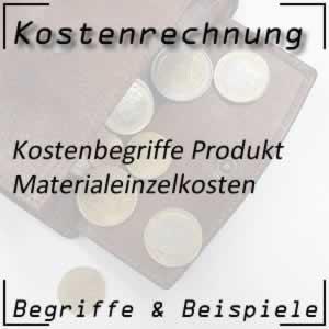 Kostenrechnung Produkt Materialeinzelkosten