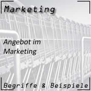 Marketing Angebot