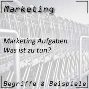 Marketing Aufgaben