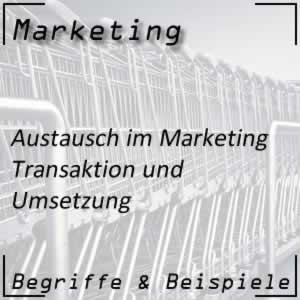 Marketing Transaktion beim Austausch