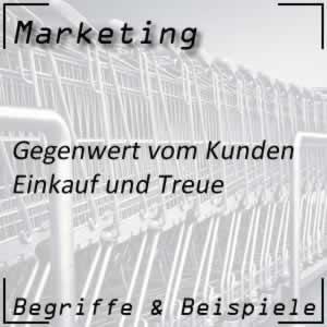 Marketing Gegenwert vom Kunden
