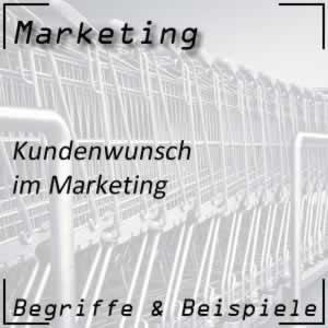Marketing Kundenwunsch