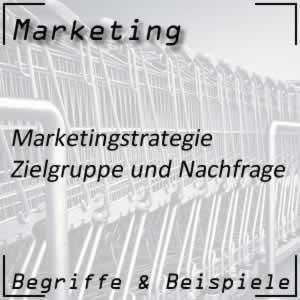Marketing Marketingstrategie Zielgruppe und Nachfrage