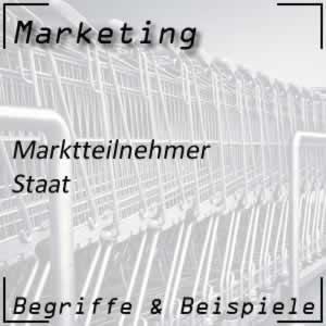 Marktteilnehmer Staat