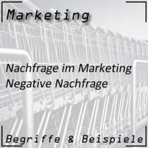 Marketing Zielgruppe negative Nachfrage