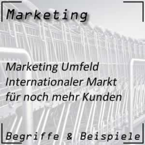 Marketing Umfeld internationaler Markt