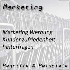 Marketing Kundenzufriedenheit