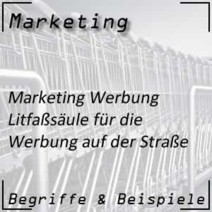 Marketing Werbung Litfaßsäule