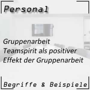 Gruppenarbeit Teamspirit