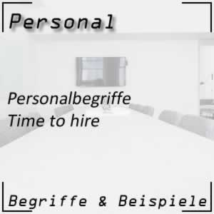 Personal Personalbegriffe Time to hire