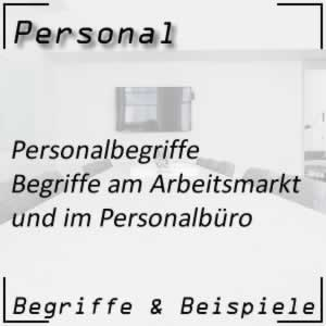 Personal Personalbegriffe