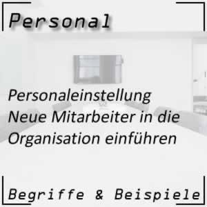 Personaleinstellung