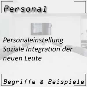 Personaleinstellung soziale Integration
