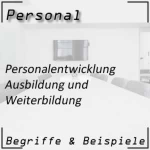 Personalentwicklung Aus-/Weiterbildung