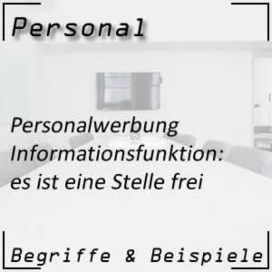 Personalwerbung Informationsfunktion