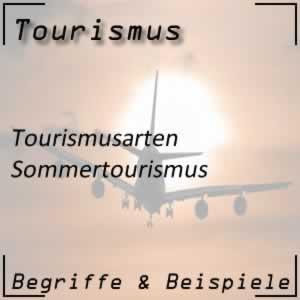 Sommertourismus oder Sommerurlaub