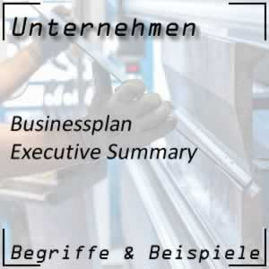 Businessplan Executive Summary