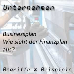Businessplan Finanzplan