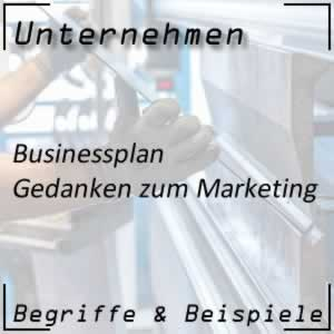 Businessplan Marketing