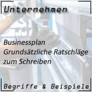 Businessplan Tipps
