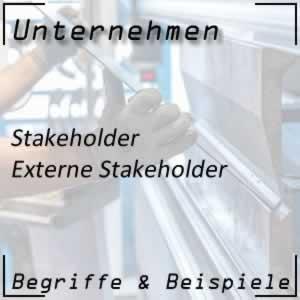 Unternehmen externe Stakeholder