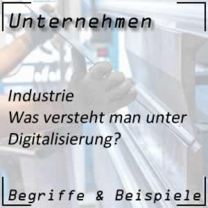 Industrie Digitalisierung