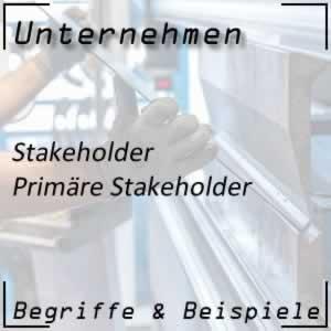 Unternehmen primäre Stakeholder