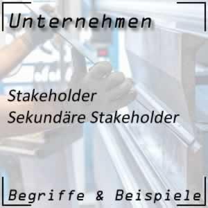 Unternehmen sekundäre Stakeholder