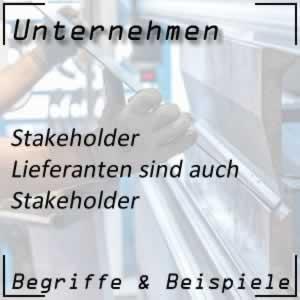 Stakeholder Lieferanten