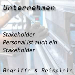 Unternehmen Stakeholder Personal