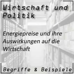 Wirtschaftspolitik Energiepreise