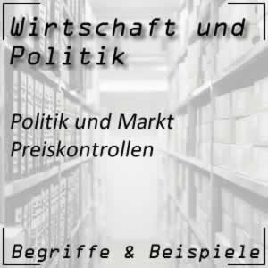 Wirtschaftspolitik Markt Preiskontrollen
